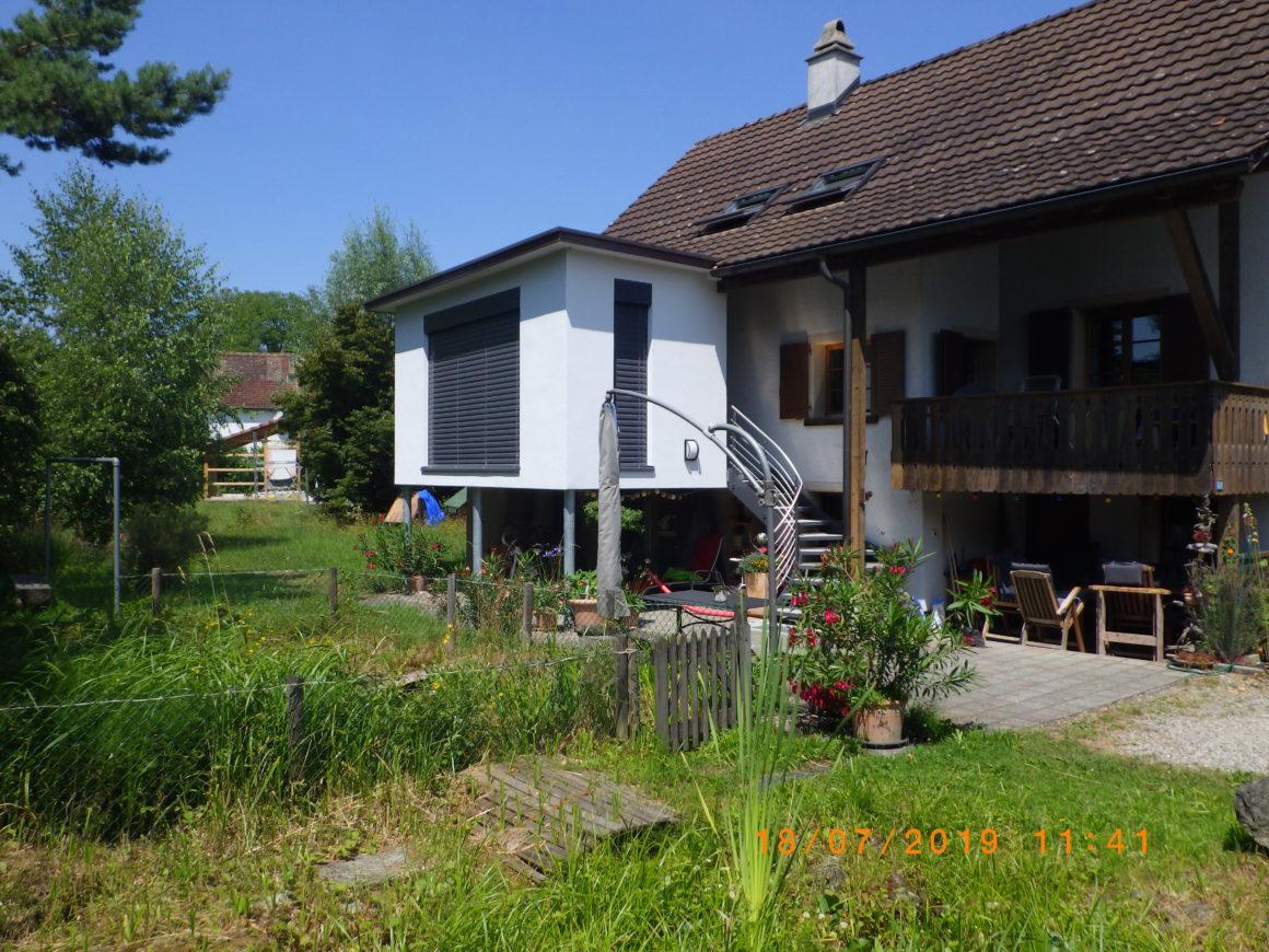 Anbau Wintergarten und erweiterter Eingangsbereich Wagenhausen
